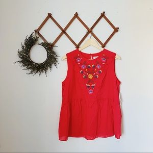 time and tru NWT boho red top